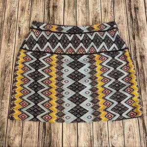 LOFT Women's Geometric Skirt Mini Size 10P